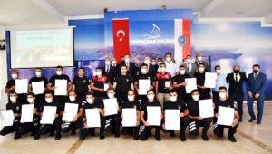 Yunus polisleri sertifikalarını aldı