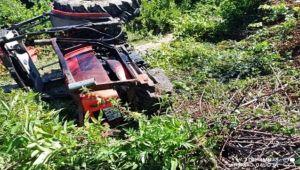 Traktörün altında kalan orman işçisi hayatını kaybetti