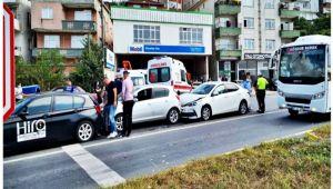 Zonguldak'ta zincirleme trafik kazası: 2 yaralı