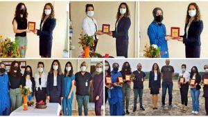 Başhekim Açıkgöz'den aşı ekibine teşekkür plaketi