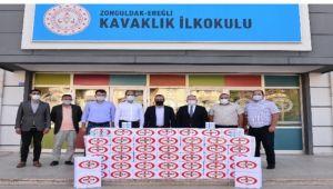 Erdemir'den bölge okullarına dezenfektan desteği