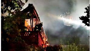 Zonguldak'ta yangın! 1 kişi gözaltına alındı