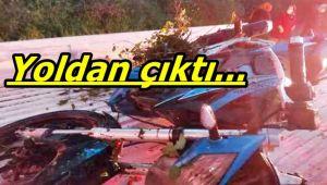 Alaplı'da motosiklet kazası