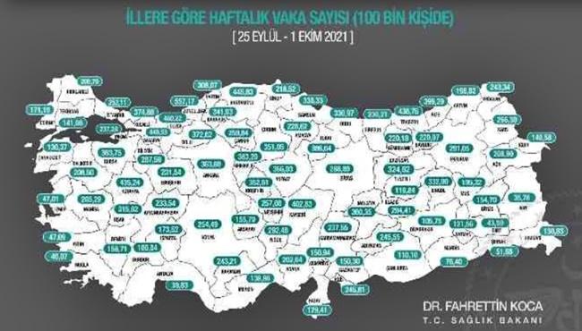 Zonguldak birinci sırada...